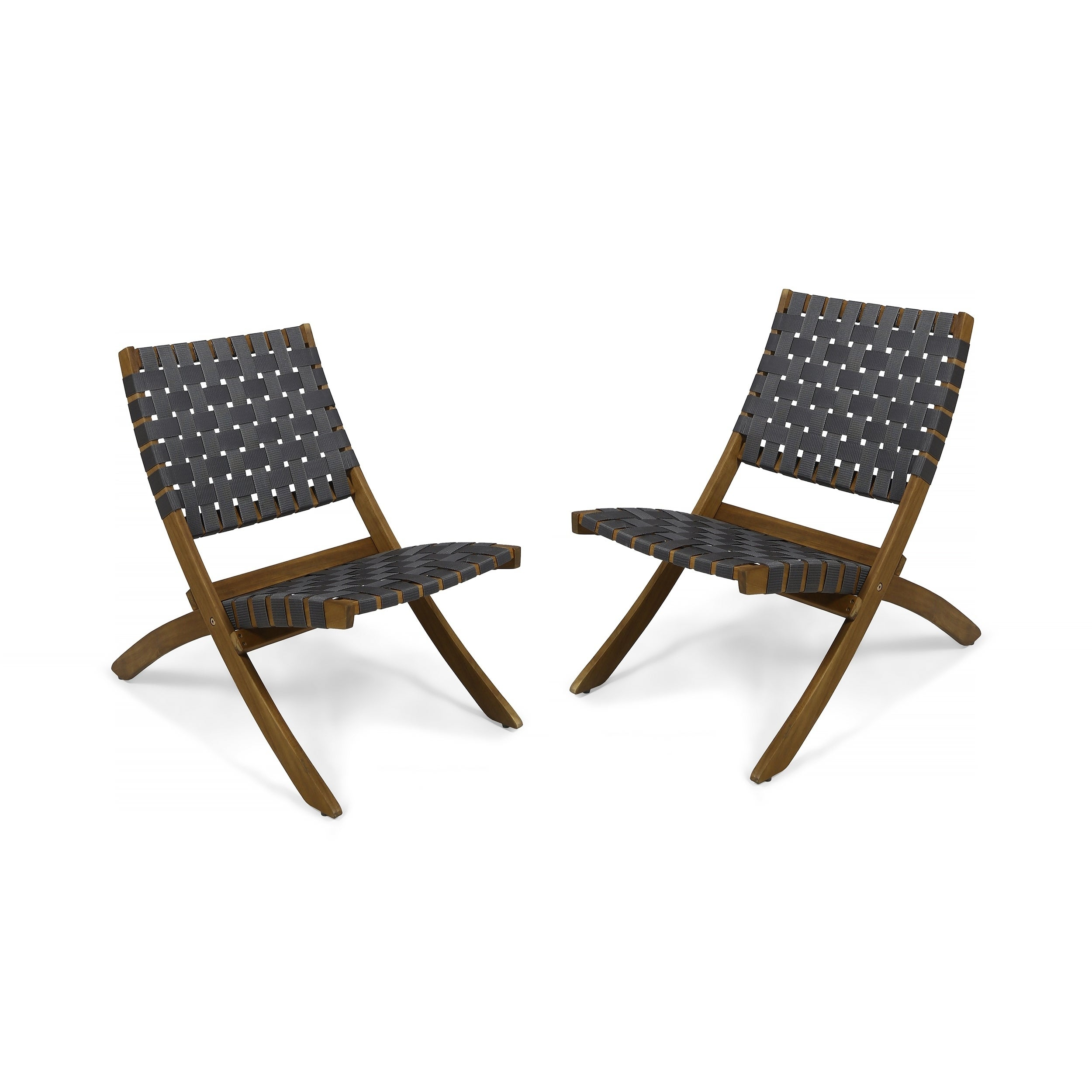 Huntsville Outdoor Acacia Wood Foldable Chairs Set Of 2 By Christopher Knight Home