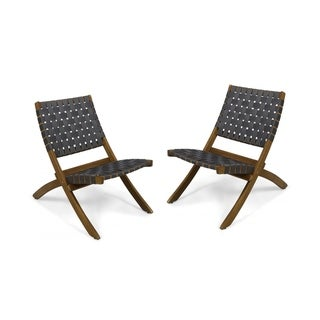 Huntsville Outdoor Acacia Wood Foldable Chairs (Set of 2) by Christopher Knight Home