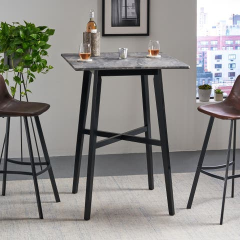 Kenilworth Modern Resin Square Bar Table by Christopher Knight Home