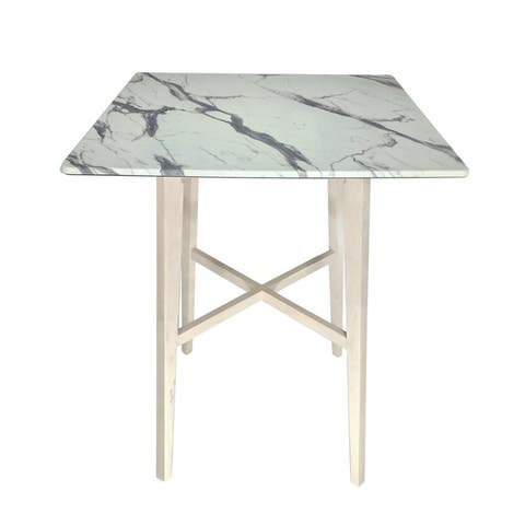 Kenilworth Modern Bar Table with Rubberwood Legs and Laminate Table Top by Christopher Knight Home