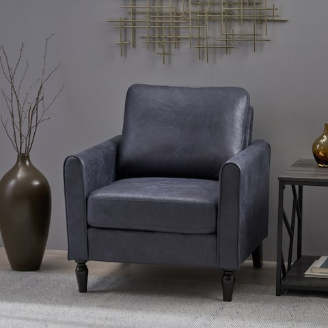 Blithewood Plush Microfiber Armchair by Christopher Knight Home