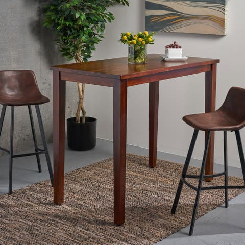 Broughton Contemporary Acacia Wood Bar Height Table (Table Only) by Christopher Knight Home