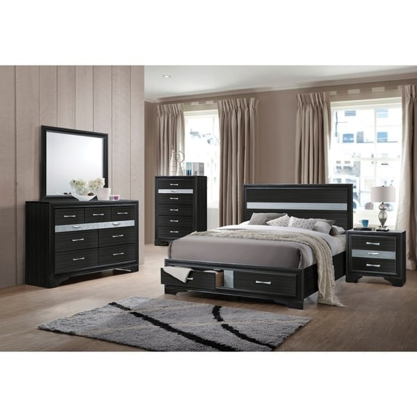 Dubasari 5 Pieces Contemporary Finished Bed Room Set