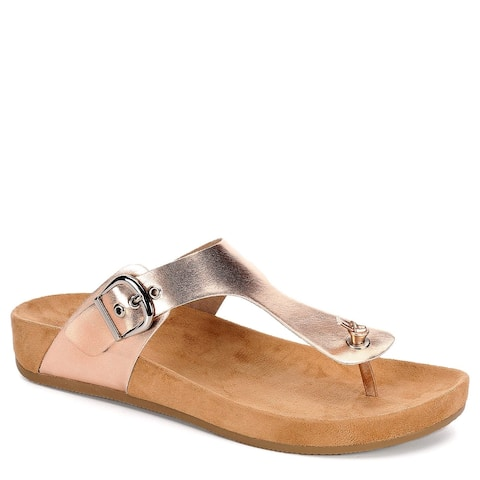 Xappeal Womens Chloe Thong Slide Sandal Shoes