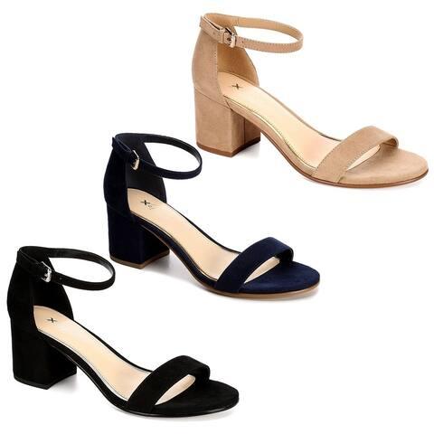 44dbd01836d6 Xappeal Womens Harlow Block Heel Dress Sandal Shoes