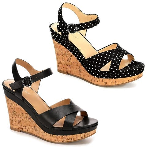 Xappeal Womens Kara Platform Wedge Sandal Shoes by  Top Reviews