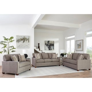 Link to Made in USA Sumner Grey Fabric Sofa, Loveseat and Chair and a Half Similar Items in Arm Chair Sets