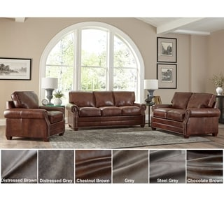 Made in USA Revo Top Grain Leather Sofa, Loveseat and Chair