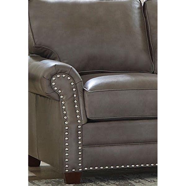 Made In Usa Vernon Top Grain Leather Sofa And Loveseat Overstock 27415183