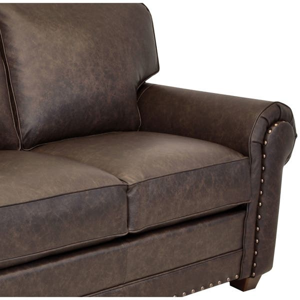 Top Grain Leather Sofa Bed And Chair