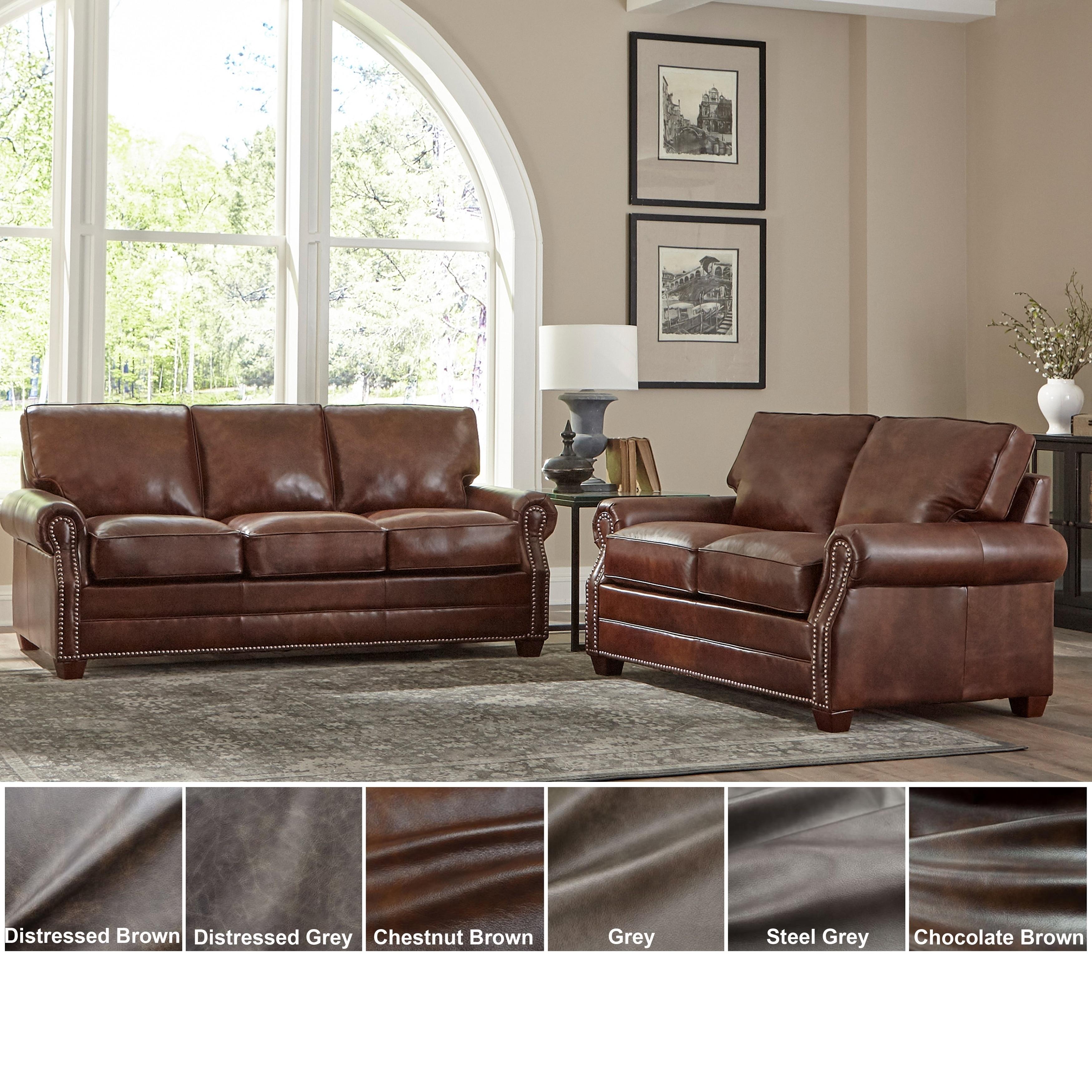 Usa Revo Top Grain Leather Sofa