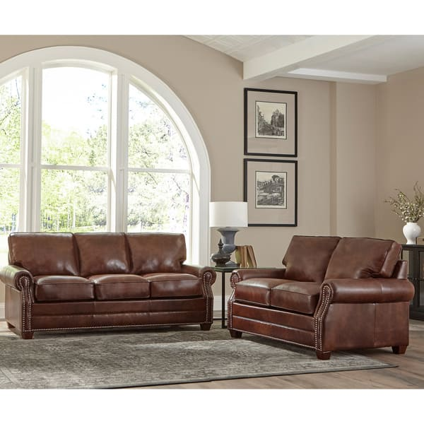 Superb Shop Made In Usa Revo Top Grain Leather Sofa And Loveseat Lamtechconsult Wood Chair Design Ideas Lamtechconsultcom