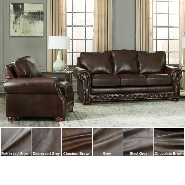 Shop Made In USA Porto Top Grain Leather Sofa Bed And