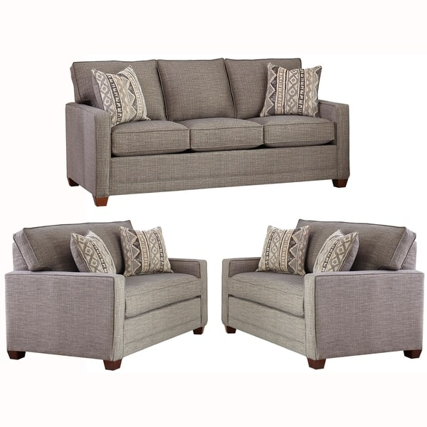Astounding Shop Made In Usa Sumner Grey Fabric Sofa Bed And Two Chair Bralicious Painted Fabric Chair Ideas Braliciousco