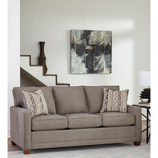 Made in USA Sumner Grey Fabric Modern Track Arm Sofa