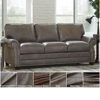 Made in USA Vernon Top Grain Leather Sofa