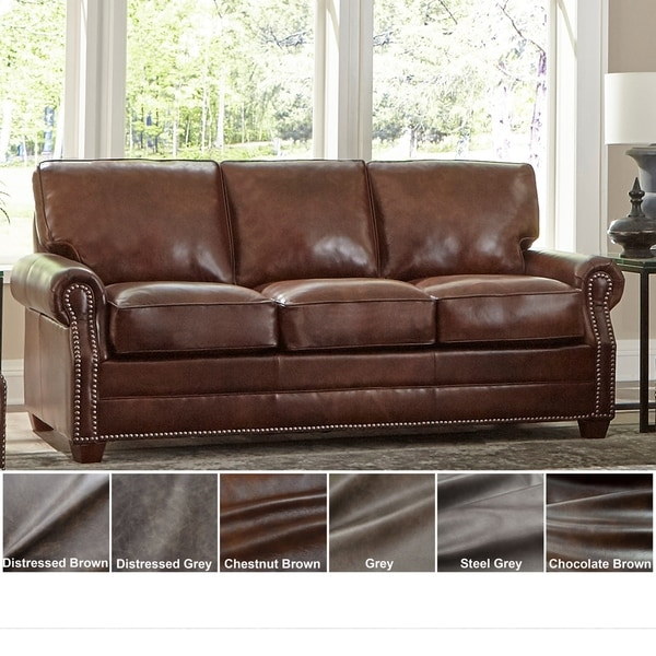 Shop Made In Usa Revo Top Grain Leather Sofa Bed Free