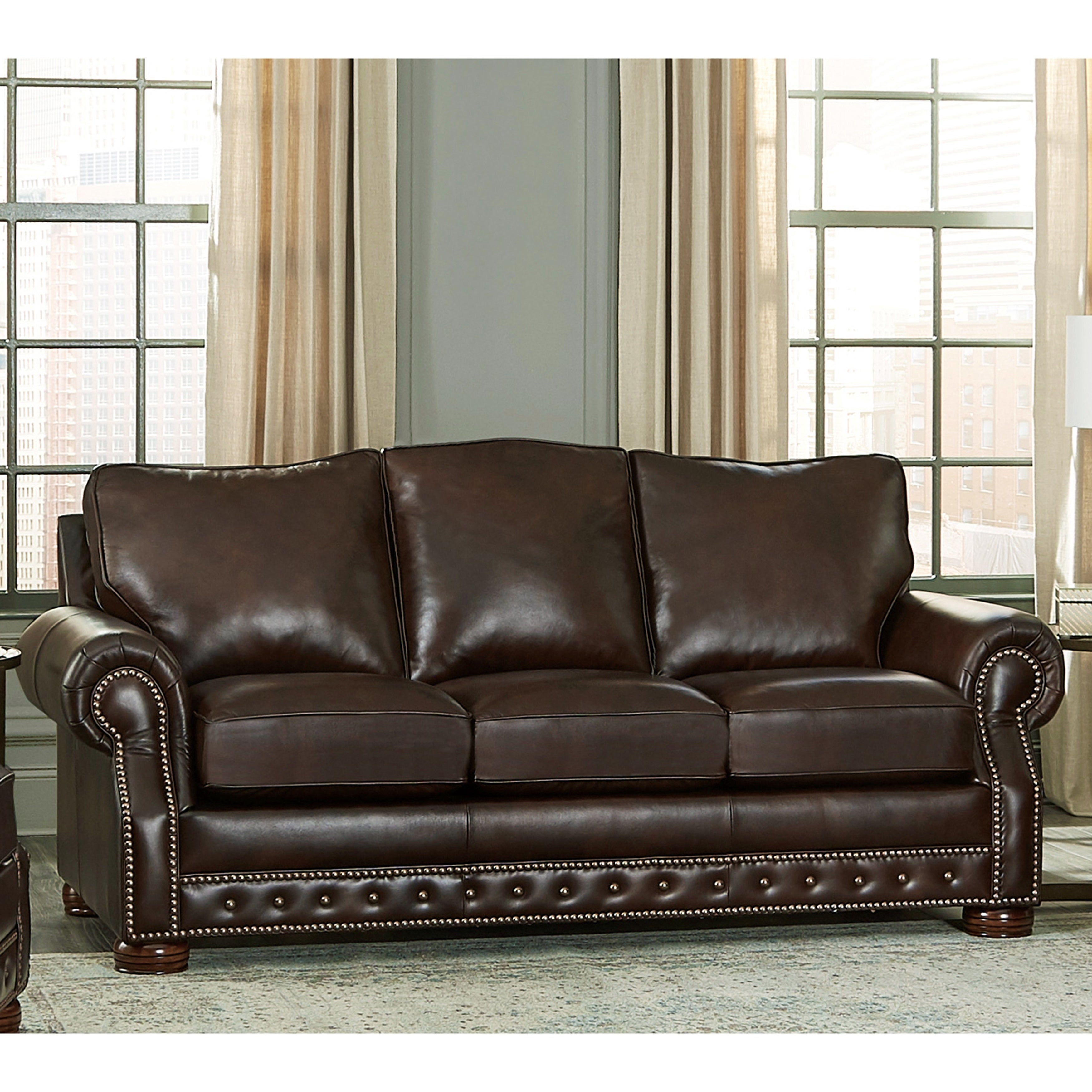 Usa Porto Top Grain Leather Sofa Bed