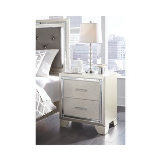 Silver Orchid Brunette Contemporary Two Drawer Night Stand
