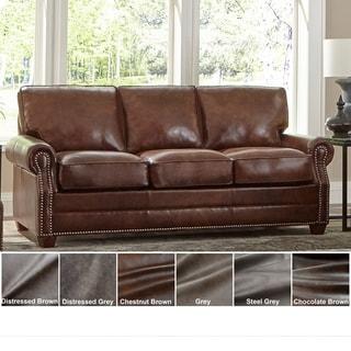 Made in USA Revo Top Grain Leather Sofa