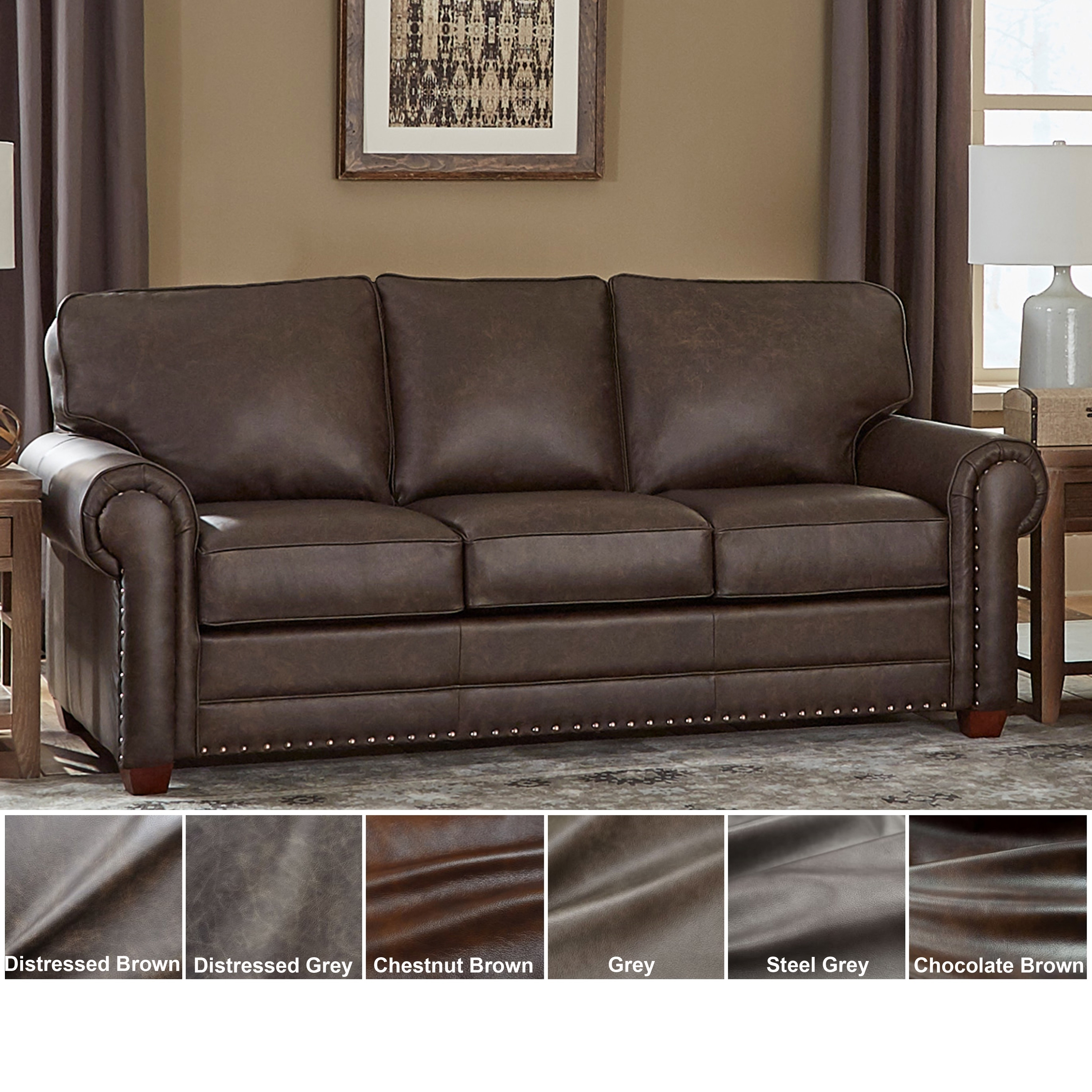 Usa Raval Top Grain Leather Sofa