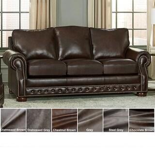 Made in USA Porto Top Grain Leather Sofa.