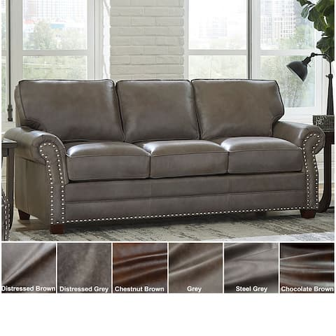 Made in USA Vernon Top Grain Leather Sofa Bed