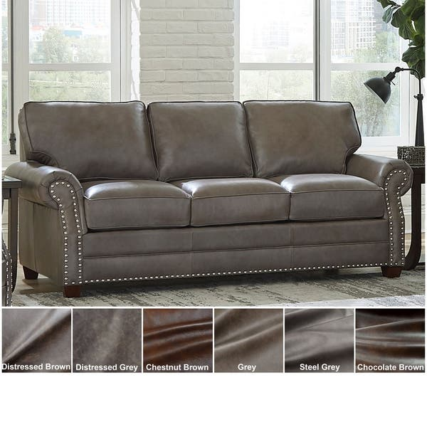 Shop Made in USA Vernon Top Grain Leather Sofa Bed - On Sale ...