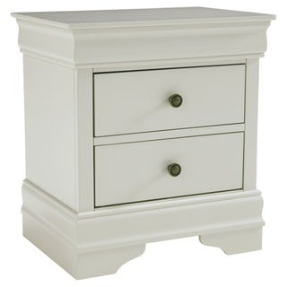 Jorstad Two Drawer Night Stand - Traditional Style - Gray