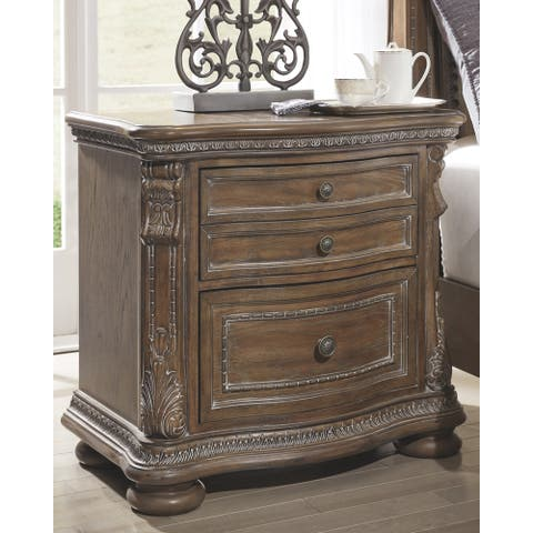 Signature Design by Ashley Charmond Brown Wood 2-drawer Nightstand