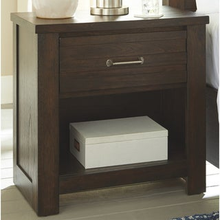 Carbon Loft Briers Brown Contemporary Nightstand