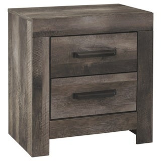 Wynnlow Two Drawer Night Stand - Casual Style - Gray