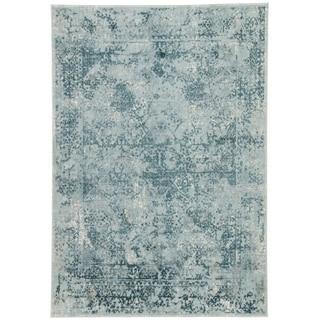 Olwyn Abstract Blue/ Teal Runner Rug