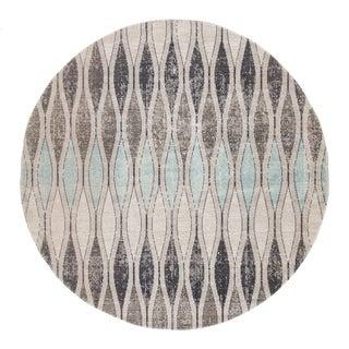 Porch & Den Hillman Grey/ Blue Geometric Indoor/ Outdoor Runner Rug