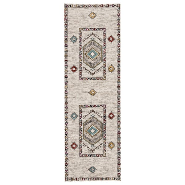 "The Curated Nomad Don Chee Tribal Medallion Indoor/ Outdoor Runner Rug - 2'8 x 10' - 2'8"" x 10' Runner"