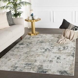 Benson Abstract White/ Gray Area Rug