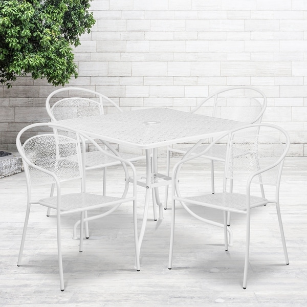 35.5SQ Patio Table Set-4Chairs