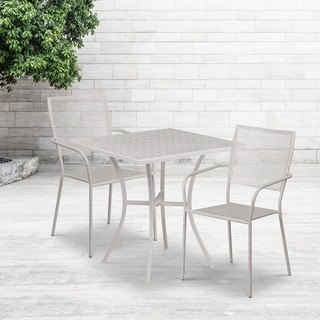 28SQ Patio Table Set-2 Chairs