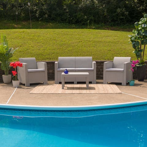 4 PC Charcoal Seating Set