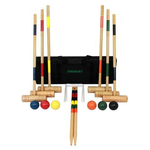 "Wood Croquet Set - Multi - 29""Lx3""Wx9""H"