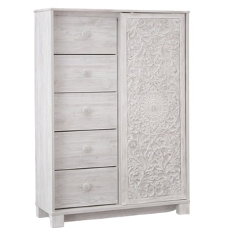 Paxberry Dressing Chest - Traditional Style - Whitewash