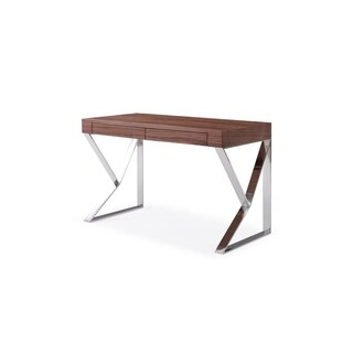 CE Noho Walnut Wood Desk with Chrome Legs