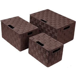 Weave Stackable Basket Set, 3 Pieces