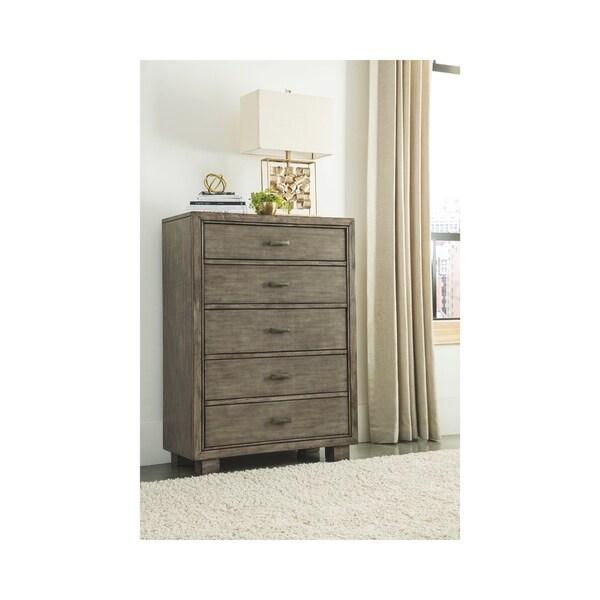 Arnett Five Drawer Chest - Casual Style - Gray