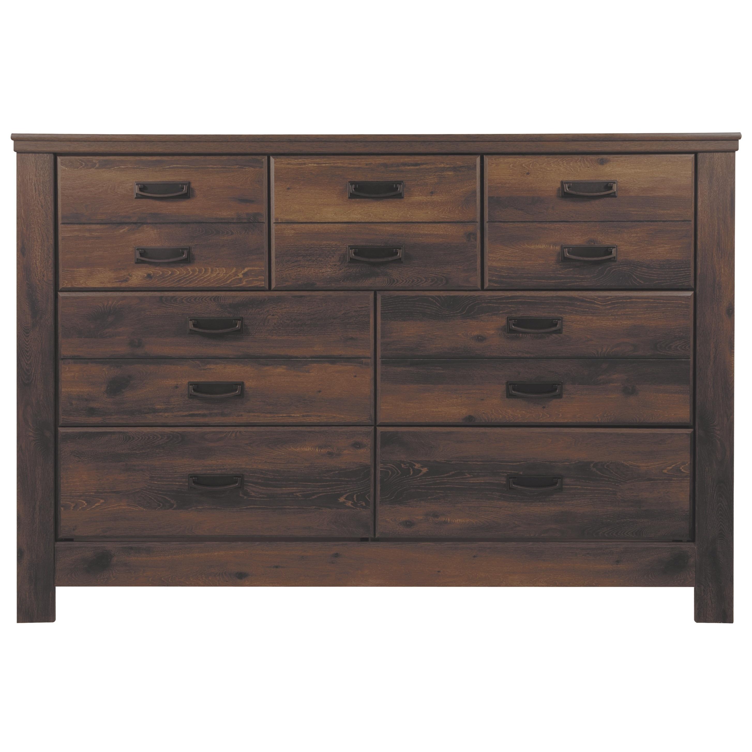 Quinden Dark Brown Dresser On