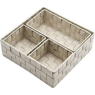 Woven Storage Baskets- 4 Piece Set