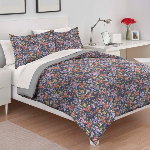 Martex Kathelyn Charcoal Comforter Set