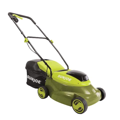 Sun Joe 24V 5Ah 14 In MJ24C-14-XR Cordless Lawn Mower with Brushless Motor