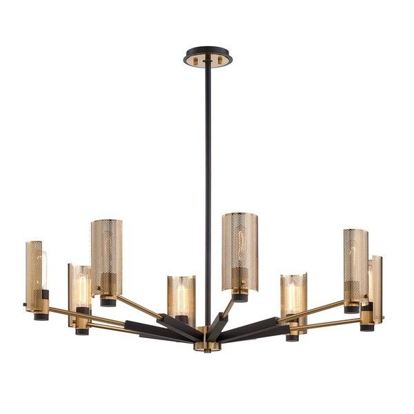 huge selection of afeaa 59c5c Troy Lighting Pilsen 8-light Modern Bronze And Aged Brass Chandelier