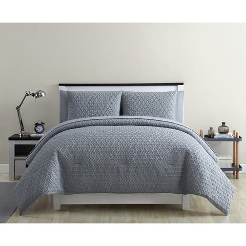 VCNY Home Mykonos Textured Bed-in-a-Bag Comforter Set